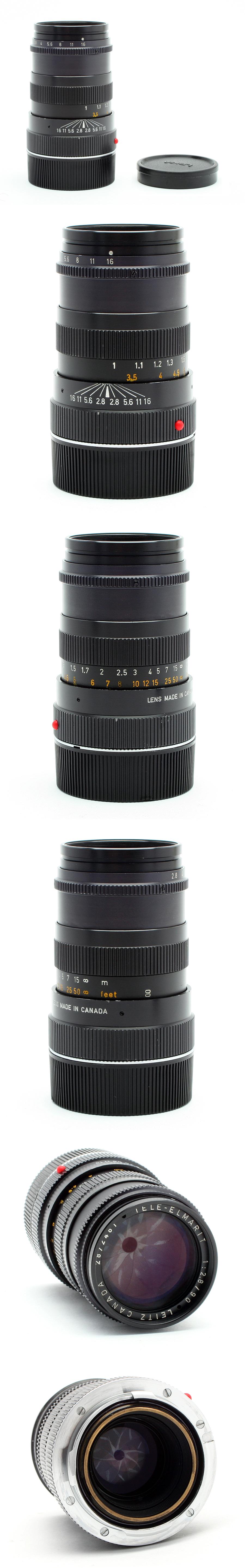 Black Leica 90mm f2.8 Tele-Elmarit Leica M Mount Manual ...